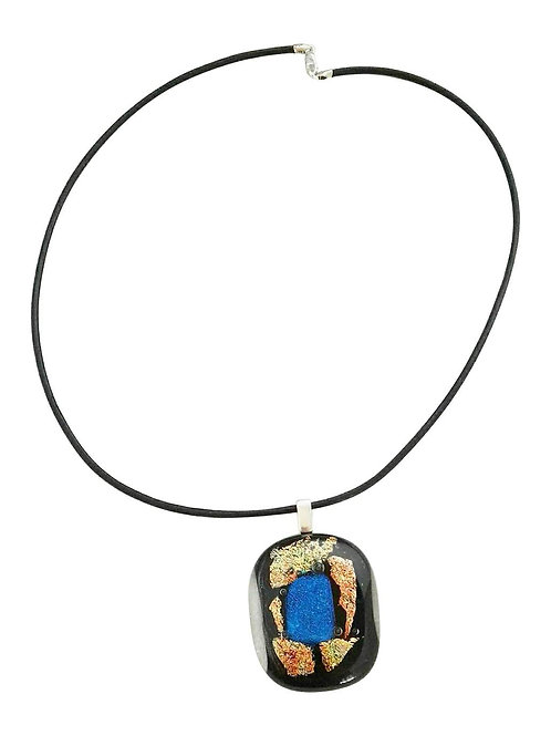 St Helena fused-glass pendant necklace