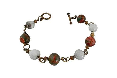 St Helena Semi-precious bracelet with local Horsebead Seed