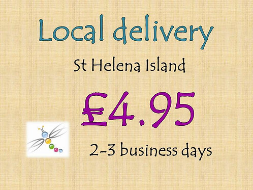 Local delivery on St Helena