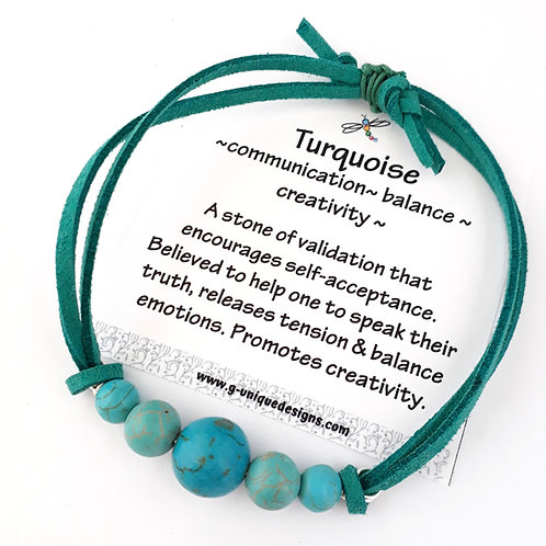 Turquoise 'positivity' bracelet