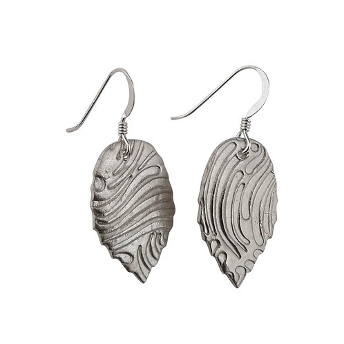 Fine Silver Leaf earrings