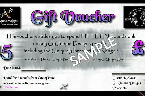 G-Unique Gift Voucher £15