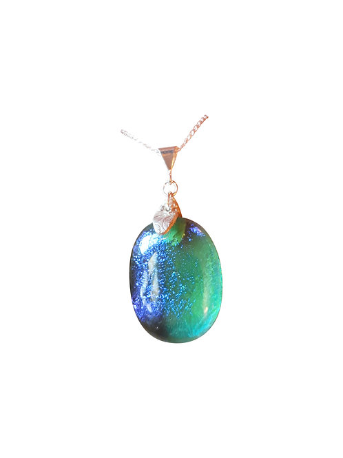 'Aqua Infusion' necklace with St Helena Fused Glass