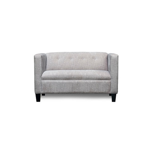 White Light Gray Calypso Loveseat