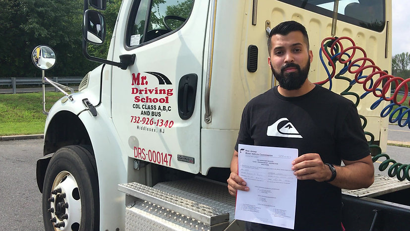 CDL Student Passed his Road Test