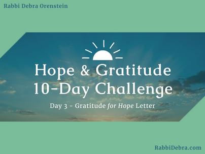 Gratitude for Hope Letter