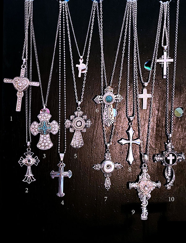 snap crosses and stainless steel crosses