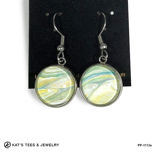 Gold and turquoise spring colors in stainless steel