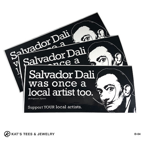 Salvadore Dali sticker - support YOUR local artists - window decal