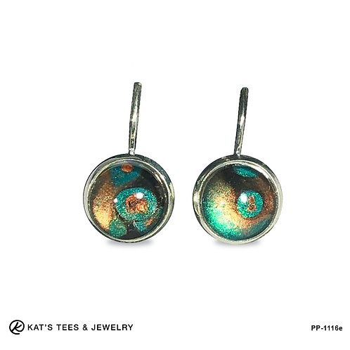 Wow! Stunning metallic paints in stainless steel leverback earrings