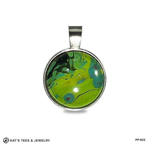 Small green earthtones - stunning wearable art!