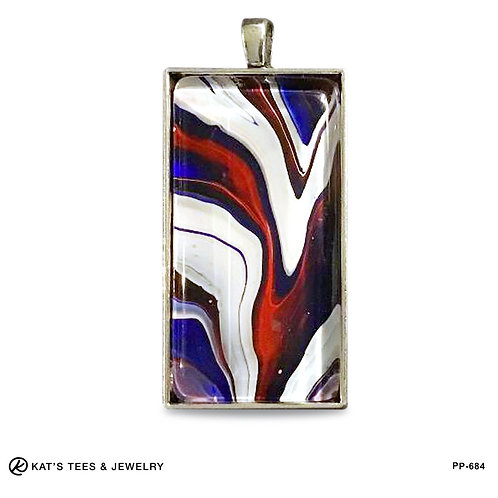 Large red white and blue pendant