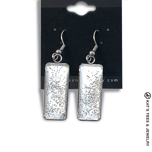 Sparkly stainless steel earrings