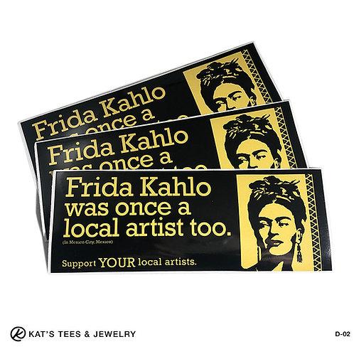 Frida artist sticker - Frida Kahlo bumper sticker decal