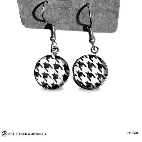 Stainless Steel Houndstooth earrings