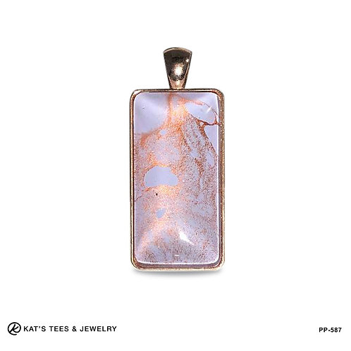 Rose Gold Pendant with copper metallic paint