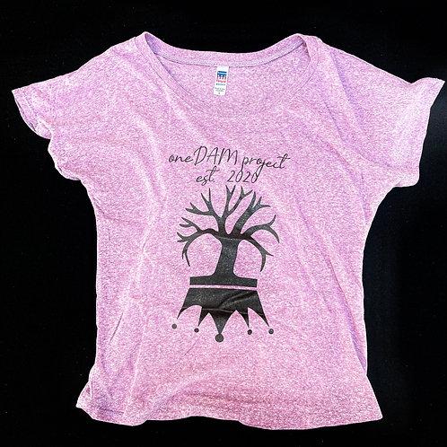 oneDAM Pink Queen Logo Tri-blend Dolman Tee