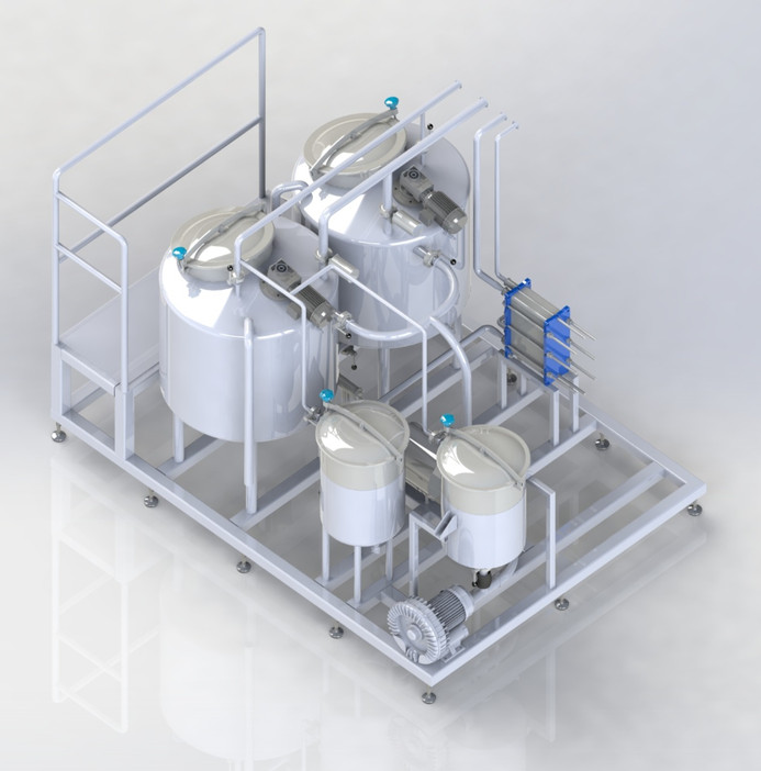 New GDL, Salt & Rennet dosing unit for liquid filled white (feta) cheese products.