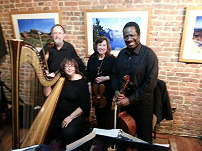 String Quartet and Harp in concert in Elizabethtown