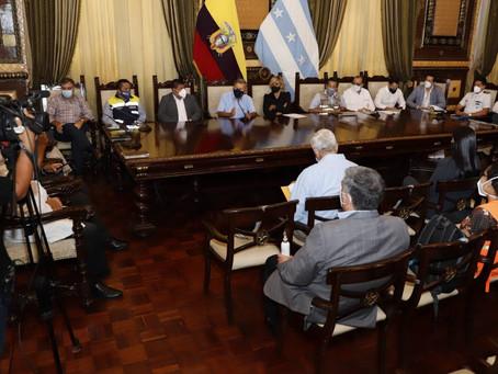 COE de Guayaquil informa sobre disminución de la tasa de contagios de COVID-19 y ratifica medidas.