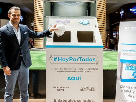 """Mall del Sol se suma a la campaña de donación """"Hoy Por Todos"""" para abastecer de guantes y mascarilla"""