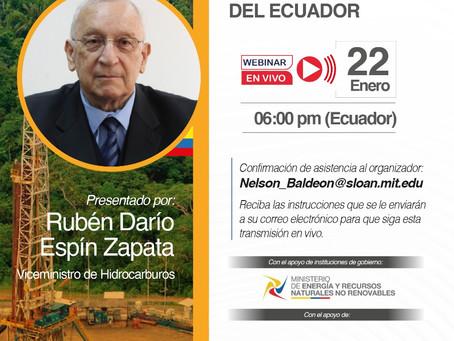 EXPERTOS ANALIZARÁN LA POLÍTICA HIDROCARBURÍFERA EN ECUADOR JUNTO AL VICEMINISTRO DE HIDROCARBUROS