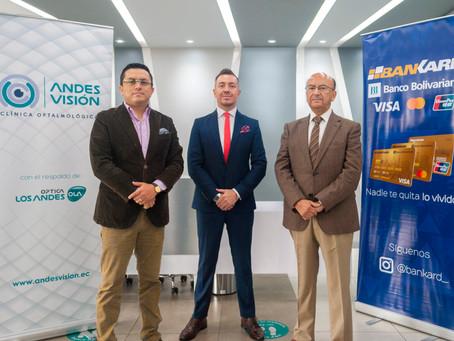 CLÍNICA ANDES VISIÓN Y BANKARD DE BANCO BOLIVARIANO FIRMAN ALIANZA ESTRATÉGICA PARA PROMOVER LA SALU