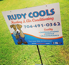 Metal all weather yard signs for _rudyco