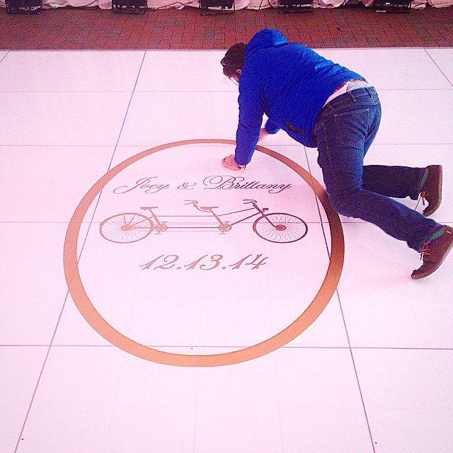 Installing fancy pants floor graphics on
