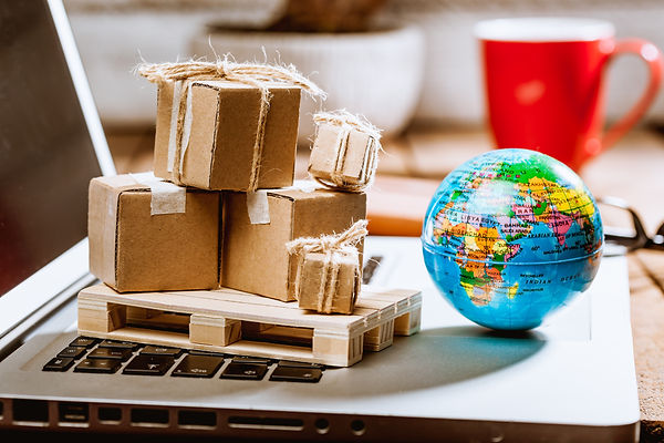 Global logistics concept with online tra