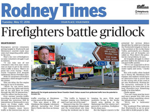 Firefighters battle gridlock