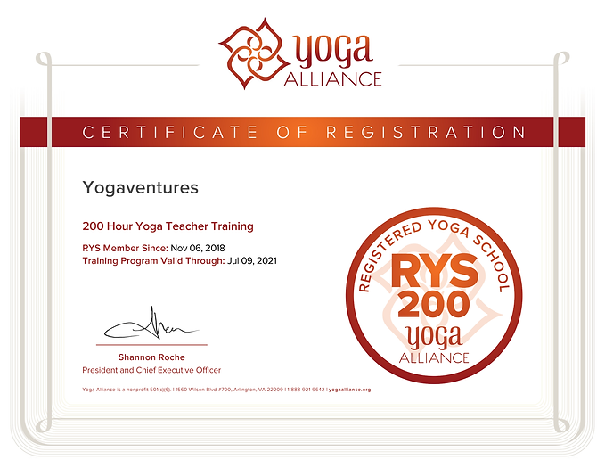 200 Hour Yoga Teacher Training Certifica