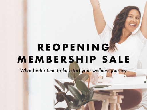 Reopening Membership Sale