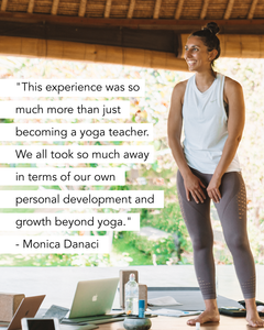 Monica Danaci Yoga Teacher Training Graduate