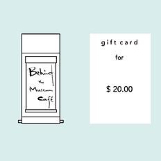 Gift Card - $20.00