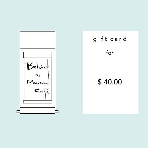 BTMC Gift Card - $40.00