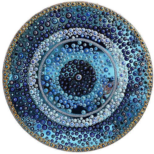 "36"" Blue Mirrored Evil Eye"