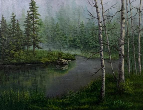 Misty Morning Pond