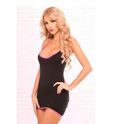 Zwart jurkje met openingen op de rug