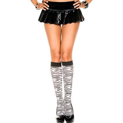 Kniekousen Met Zebraprint – Zwart/Wit