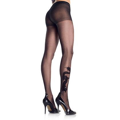 Drakentattoo Panty – Zwart