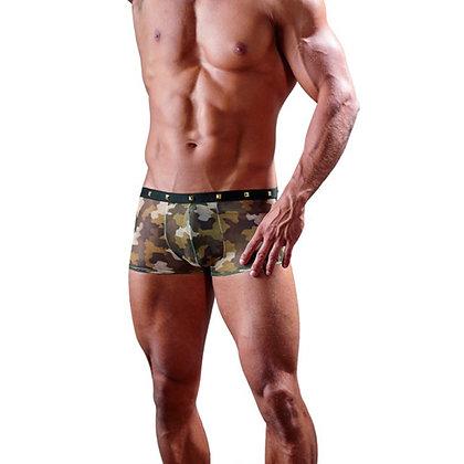 Boxer Met Goudkleurige Studs En Camouflageprint