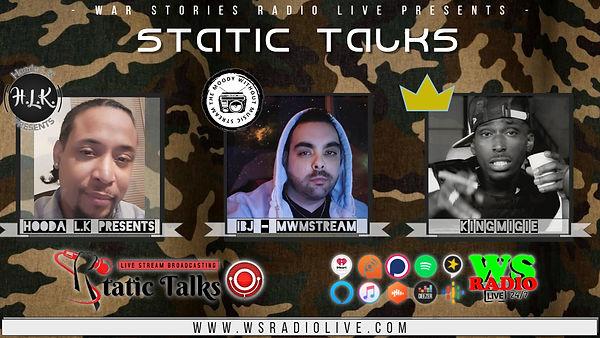 Tumbnail Youtube template Static Talks -