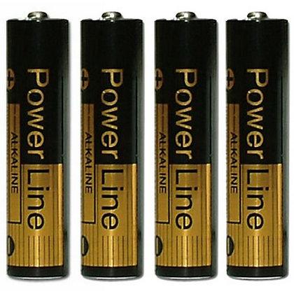 Batterij Micro AAA 4 stuks