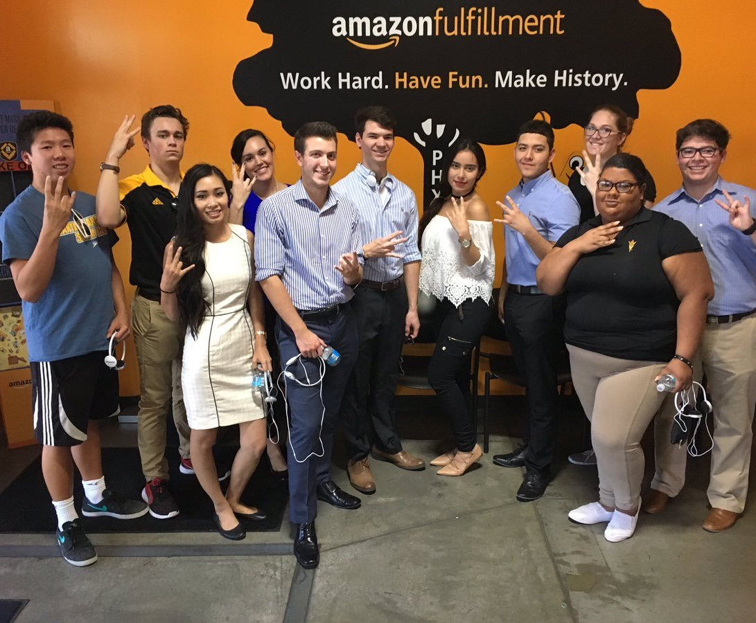 Amazon warehouse visit