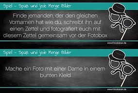 Fotobox Aufgaben Spiel 2
