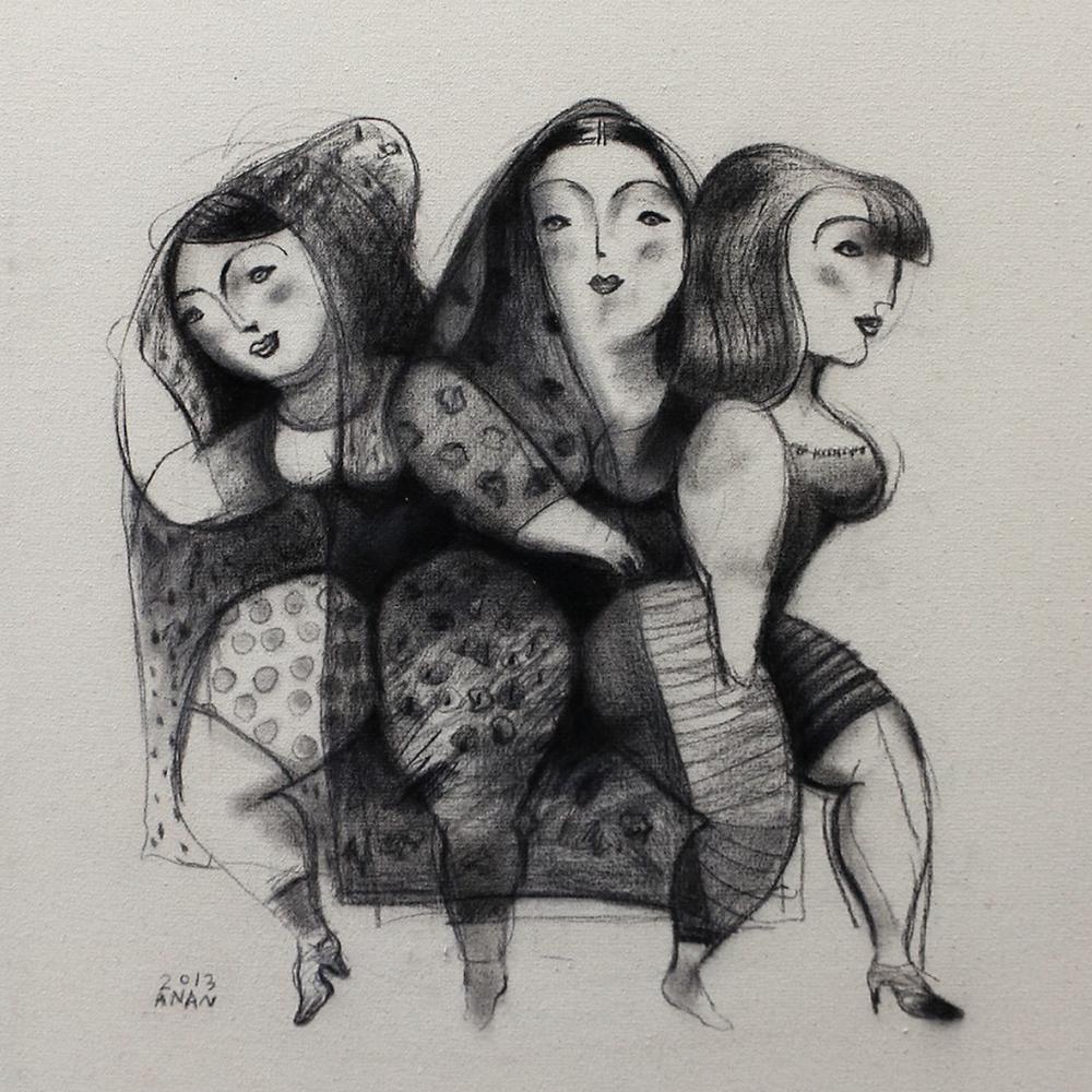 من أعمال الفنان البحريني أحمد عنان