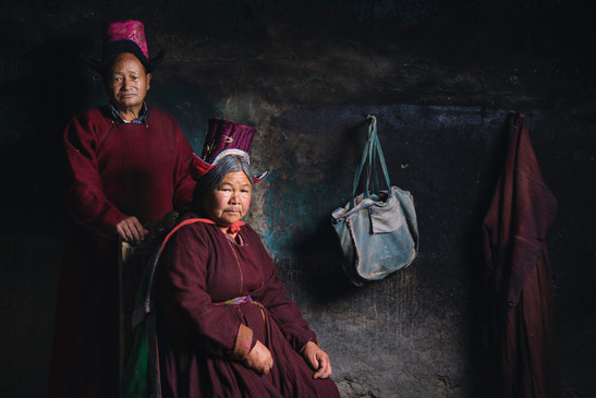 نساء ولاية «لاداخ» خلال احتفالاتها السنوية