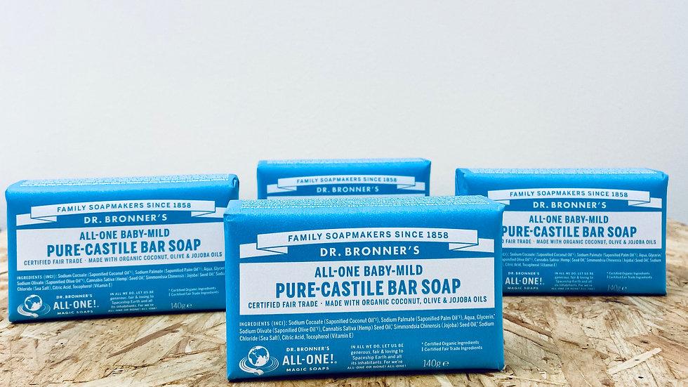 Dr Bronner's Baby Castile Bar Soap - 140g
