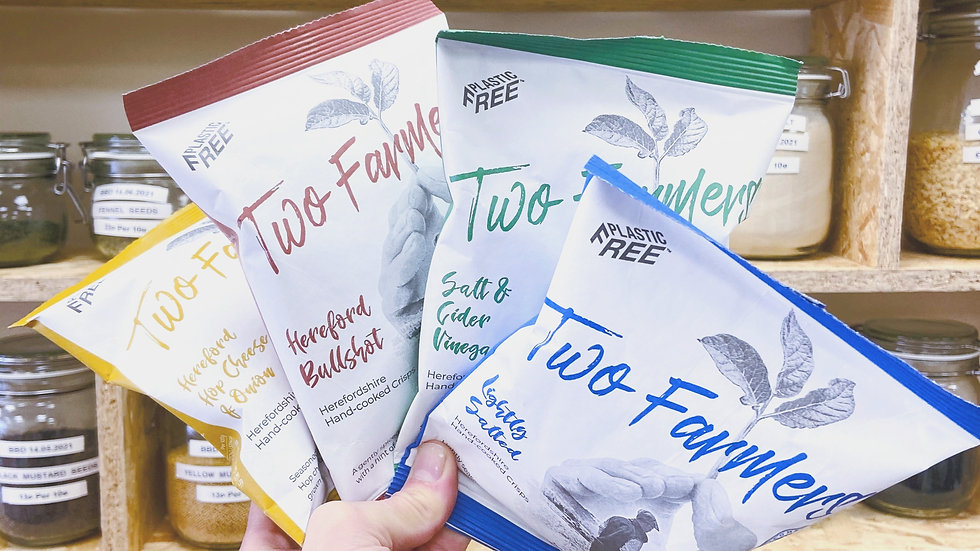 Two Farmers Crisps - 100% Compostable Packaging